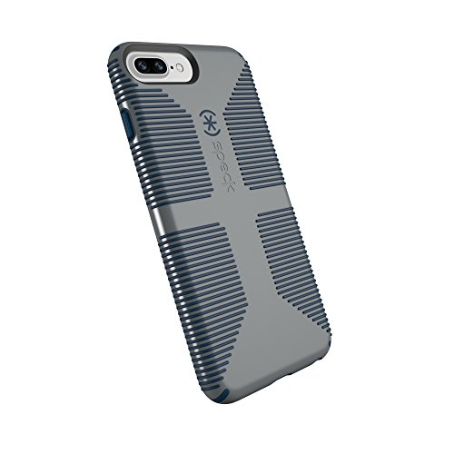 Speck Products CandyShell Grip Cell Phone Case for iPhone 8 Plus/7 Plus/6S Plus/6 Plus - Gravel Grey/DEEP Sea Blue