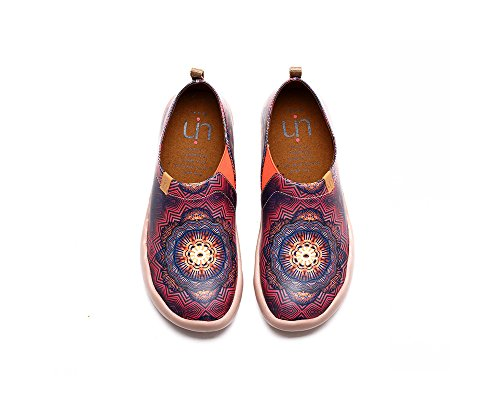UIN Oracle Chaussures bateaux de cuir comfortable rouge pour femme