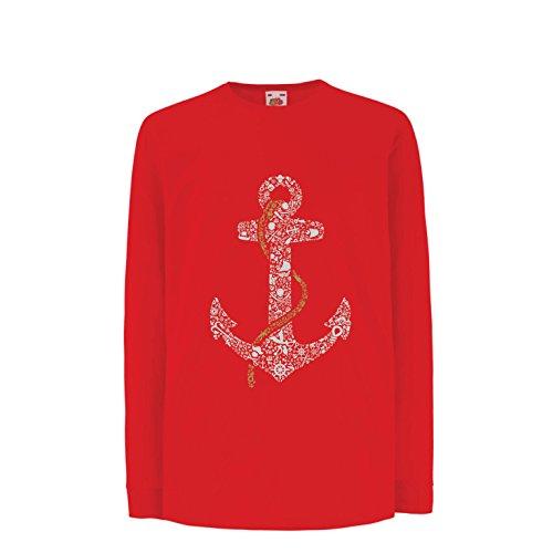 lepni.me Camiseta para Niño/Niña Ancla de Marinero Salado, Camisa Marinera Marinera, Ropa de navegación y Vela (7-8 Years...