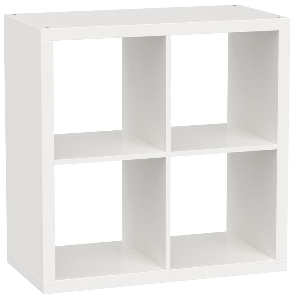 Kallax Estantería de IKEA Librería, cestas o boxes-77 X 77 cm (Brillante), Color Blanco