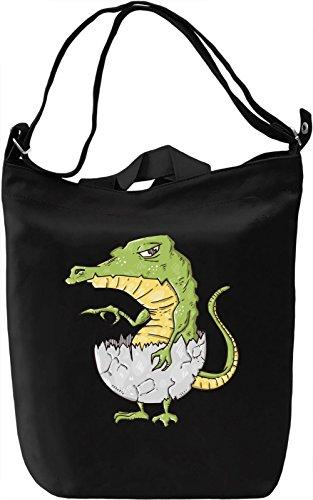 Baby crocodile Borsa Giornaliera Canvas Canvas Day Bag  100% Premium Cotton Canvas  DTG Printing 