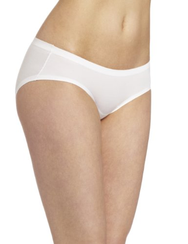 Nylon No Gusset White Panty - Maidenform Womens Comfort Devotion Hipster Panty, White, 5