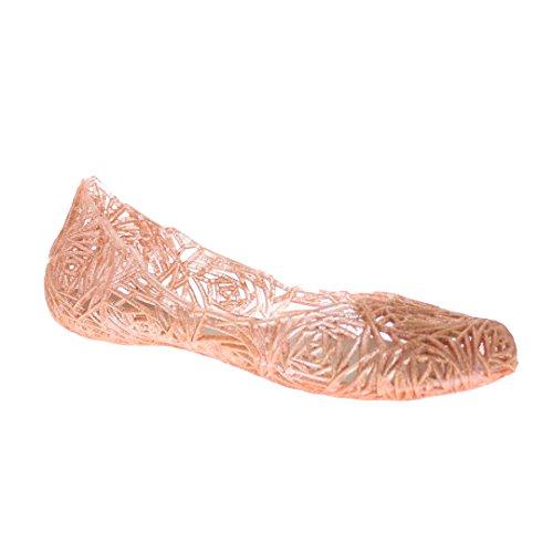 Flat Glaze - Glaze Women's Flat Heel Summer Beach Jelly Shoe Alaska-10 (Mauve 6.0)