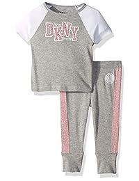 ea9bdacdb2 DKNY Conjunto de Playera de Manga Corta y Pijama para Correr para niñas
