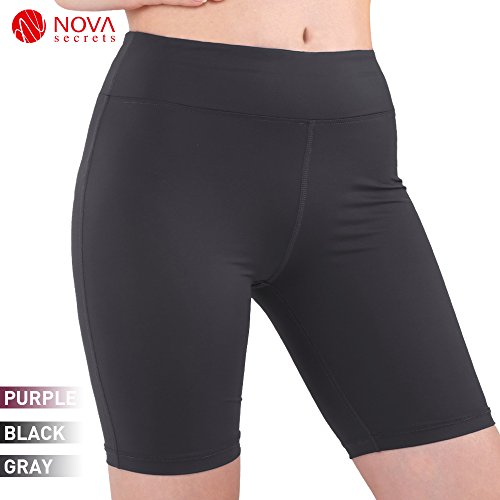 Nova Secrets Women's Yoga Short Leggings Capri Cropped Skirted Leggings (Capri Cropped Shorts)