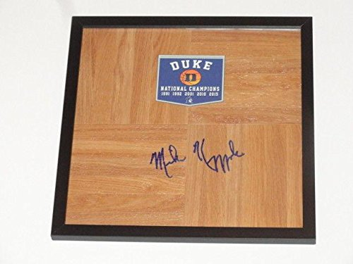 - Mike Krzyzewski Signed Framed 12x12 Floorboard Duke Blue Devils Coach K Coa - JSA Certified - Autographed College Floorboards
