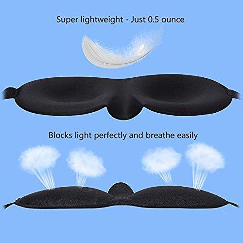 sagomata in 3D con cinghia regolabile leggera per uomini e donne 2 confezioni di mascherine per dormire e tappi per le orecchie mascherina per occhi per dormire