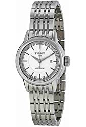 Tissot Carson Automatic White Dial Stainless Steel Ladies Watch T0852071101100