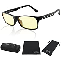 Duco Full Rim Ergonomic Advanced Video Computer Gaming Glasses Black 223