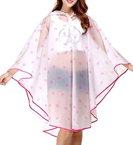 100 Poncho Eva Moto Pioggia Rainwear Chic Fashion Per Trench Cappuccio Donna Parka Trasparente Impermeabile Ragazza Color1 Hx Bicicletta 5nZqHAwx