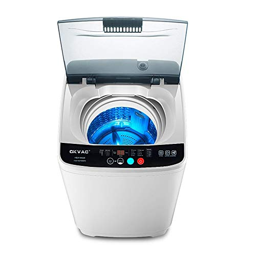 Price comparison product image OKVAC Full-Automatic Washing Machine,  8lbs Top Load Washer&Spin,  8 Preset Programs Panel with Child Lock