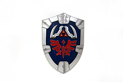 Mythrojan Deluxe Steel Zelda Hylian Shield Replica with Straps LARP Cosplay Triforce