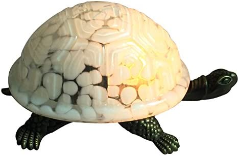 NOSHY Premium Tiffany Style Turtle and Tortoise Accent Lamps