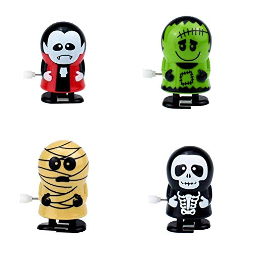 TOYANDONA 6pcs Wind up Toys Zombie Vampire Mummy Model Clockwork Toys for Kids Adults Halloween Scary Theme Party Supplies (Random Pattern)]()