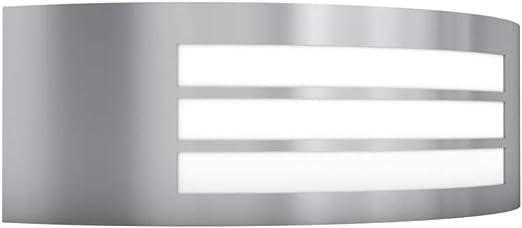 vidaXL Lámpara de Pared Exterior Semicircular Acero Inoxidable ...
