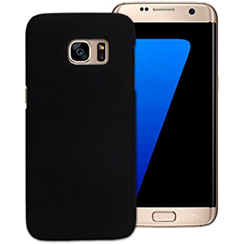 Tenworld Samsung Galaxy S7 Edge Case Cover ! ! ! Luxury PU Leather Card Slot Wallet Case (Black) Sales