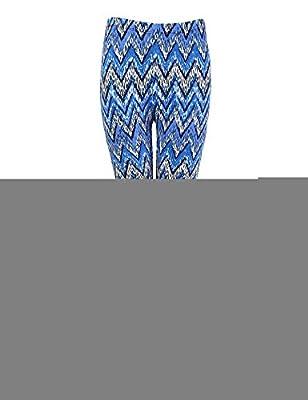 Fashion Stripe Tribal Aztec Printed Leggings for Women Full Length Floral Pattern