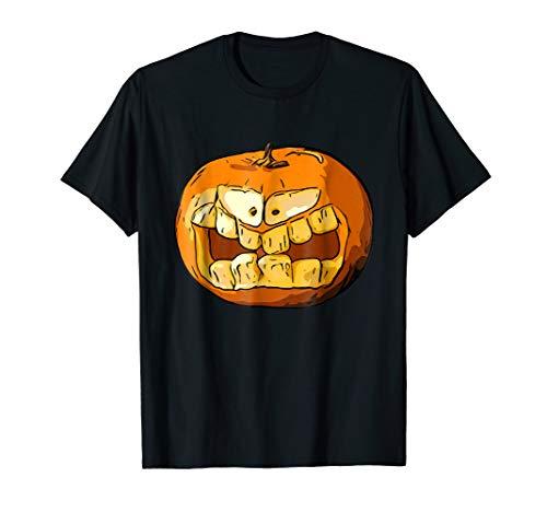 Halloween 2017 Pumpkin Carving Face Graphic Costume T-Shirt ()