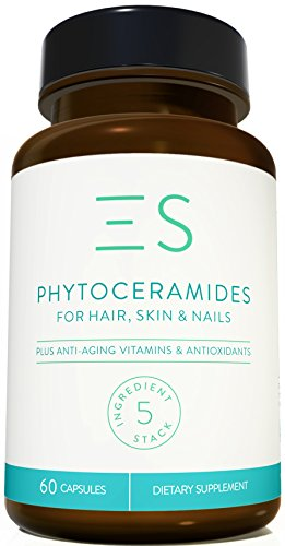 Essential Stacks 350 mg Plant-Based Phytoceramides for Anti Aging - 60 Count - 2 Months Supply
