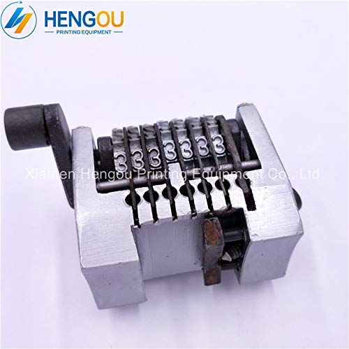 Printer Parts 2 PCS 22.3'' 7 Digits Numbering Machine for Yoton GTO, Horizontal Forward Without Spring, Last Three bits can Adjustable by Yoton (Image #4)
