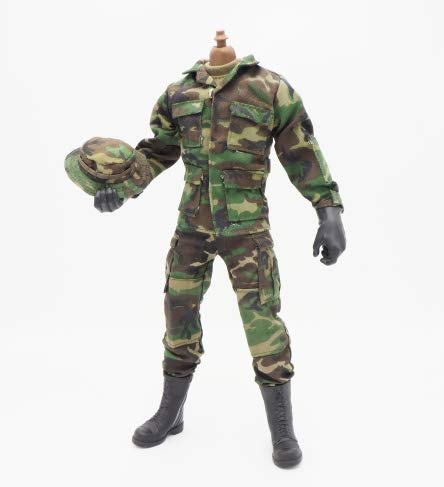 12 Military Inch Figures (Green Soldier Uniforms Set for 12