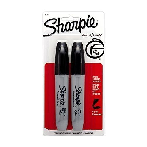 (Sanford Ink Corporation Sharpie Marker, Chisel Tip, 2/Pack, Black)