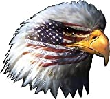 American Flag Eagle Head Vinyl Sticker Decal for car window laptop macbook