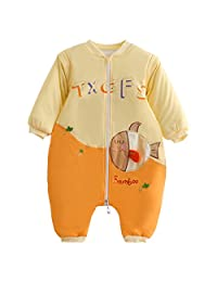 Happy Cherry Baby Sleep Bag Winter Thick Cotton Zip Fish Pajamas for 3-24 Months