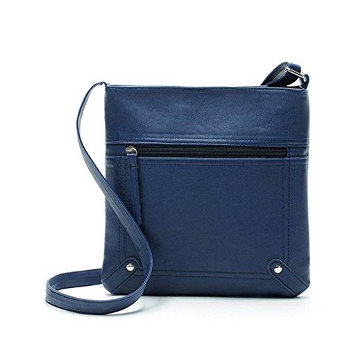 Kolylong Fashion Womens Leather Satchel Cross Body Shoulder Messenger Bag Handbag (Brown) Blue