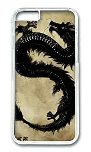 Happy New Year Year of the Dragon PC Transparent Hard Case for Apple iPhone 6(4.7 inch)