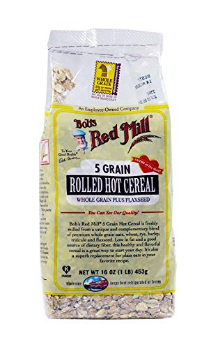 Cereal 5 Grain (Bob'S Red Mill 5 Grain Rolled Cereal 16 Oz (Pack of 4) - Pack Of 4)