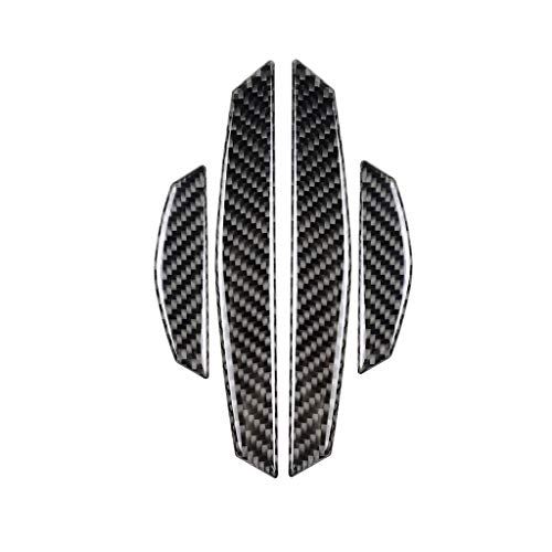 TOOGOO 4Pcs Car Door Protector Carbon Fiber Door Side Stickers Car Anti-Collision Strips Sticker for BMW E90 E46 F30 F10 X1 X3 X5 X6 16.8,8.8cm Black