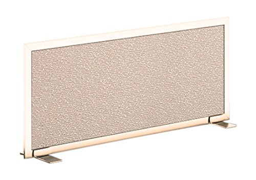 Obex 18X36A-L-OV-FS Acoustical Free Standing Privacy Screen, Overcast, 18''H X 36''W