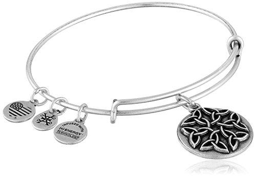 Alex and Ani Endless Knot II Expandable Rafaelian Silver Bangle Bracelet