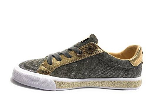 Guess Scarpe Donna Sneaker MOD. meggie Tessuto Lurex Col. Gold DS18GU58