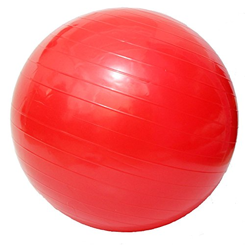 Yoga Fitness Ball Anti-Burst and Slip Resistant Ball with Pump (red, M: Diameter:55cm/21.6