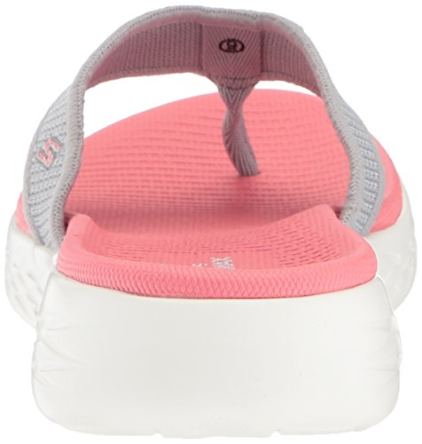 Para Sandalias Go Gris Descubierta On De The Skechers grey pink Mujer 600 Punta AxFqR6wp