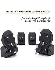 KMFCDAE Jeep Hood Latches JL OEM Original Anti-Theft Hood Locking Catch Latch Kit with 4 Keys for 2018-2021 Jeep Wrangler JL and Jeep Gladiator JT (1 Pair)