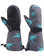 BAVST Winter Kids Waterproof Glove Mittens for Boys Girls Snow Ski Toddler Baby Gloves Outdoor for Infant Teens 1-5T