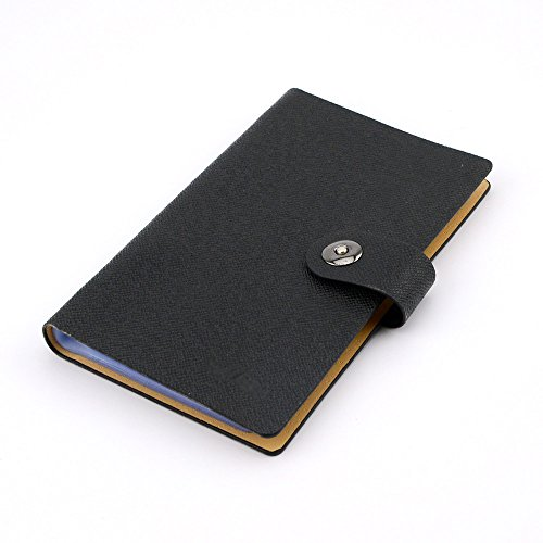 Business PU Leather Cards Organizer Book, 240 Cell-Black