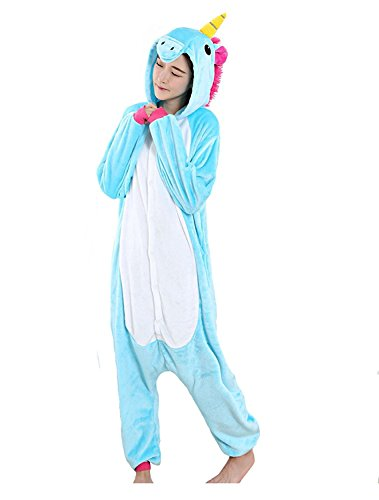 Unisex Adult Animal One Piece Warm Pajamas Halloween Party Cosplay Costume S B-Unicorn (Person Carrying Person Halloween Costume)