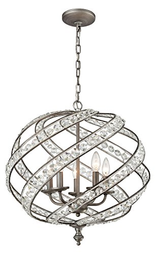 Renaissance 5 Light Chandelier in Weathered Zinc