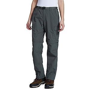 Baleaf Women's Quick Dry Convertible Cargo Pants Water Repellent UPF 50+ Deep Grey Size S