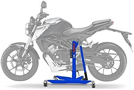 Constands Power Classic Zentralständer Für Honda Cb 125 R 18 20 Blau Motorrad Aufbockständer Heber Montageständer Auto