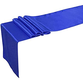 Amazoncom OurWarm Royal Blue Satin Table Runner 12x 108 Inch