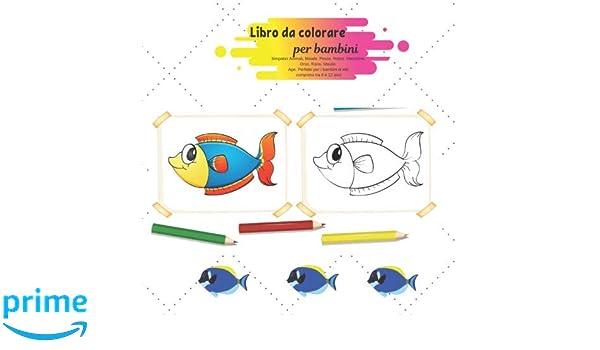 Amazon Com Libro Da Colorare Per Bambini Simpatici Animali