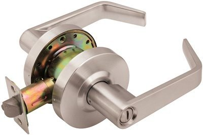 (Legend 809073 Grade 2 Commercial Duty, Privacy Bed and Bath Leverset Lockset, ADA, US26D Satin Chrome)