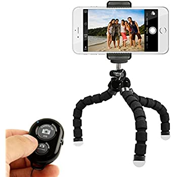 KobraTech Mini Cell Phone Tripod - TriFlex Mini - Flexible iPhone Tripod for Any Smartphone