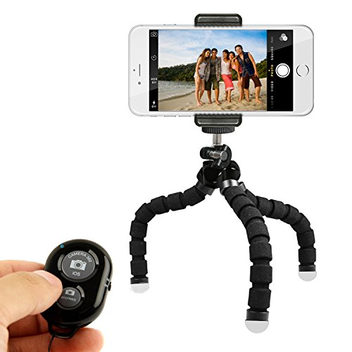 : KobraTech Mini Cell Phone Tripod - TriFlex Mini - Flexible iPhone Tripod for Any Smartphone