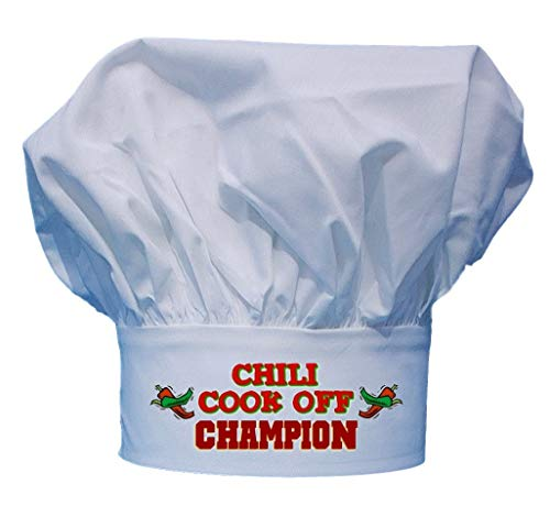 CoolChefHats Chili Cook Off Champion Chef Hat, White, One Size Fits All]()